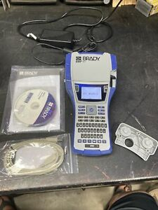 Brady Bmp41 Handheld Label Printer Rechargable With Cables Books No Cartridge