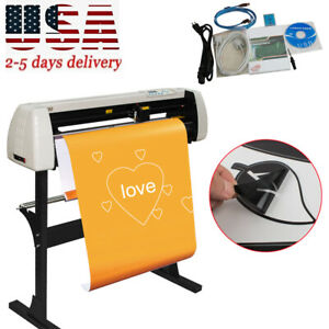 33 Inch Plotter Machine 850mm Paper Feed Vinyl Cutter Sign Cutting Lcd Screen Us
