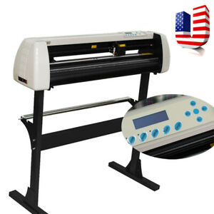 28 Inch Plotter Machine 720mm Paper Feed Vinyl Cutter Sign Cutting With Stand Us