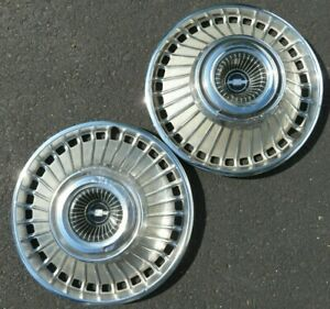 Lot Of 2 Chevy 32 Hole 1963 1964 Hubcaps Vintage 14 Bel Air Impala Corvair 64