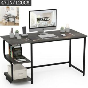 47 2 computer Desk With Shelves Gaming Desk Reversible Home Office Writing Table