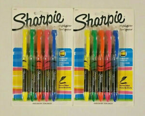 Sharpie Accent Pen style Liquid Highlighters Chisel Tip Assorted Colors 2 Pks