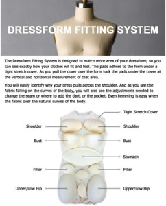 Adult Female Dress Form Padding System For Professional Dress Forms 12 Piece