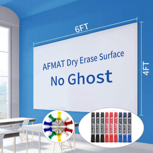 6 x4 Whiteboard Paper White Board Adhesive Wallpaper Large Dry Erase Wall Dry