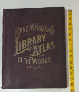 1894 Rand Mcnally Library Atlas Of The World Color Maps Of U S World