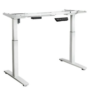 Electric Stand Up Desk Frame Single Motor Height Adjustable W Controller White