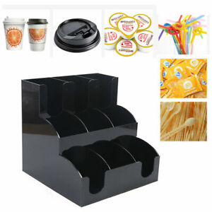 Breakroom Coffee Condiment Organizer Cup Dispenser Container For Home Office