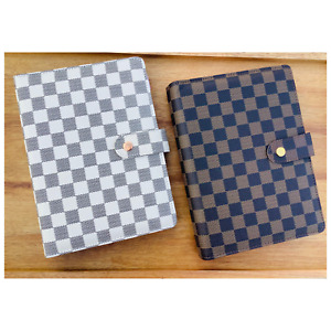 Luxury Checkered quilted A5 A6 Agenda Binder Planner Journal Notepad Gift