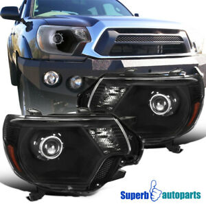 For 2012 2015 Toyota Tacoma Black Projector Headlights Side Marker Lamp 12 15
