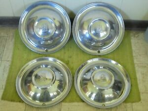 51 52 Plymouth Hub Caps 15 Set Of 4 Wheel Covers Hubcaps 1951 1952