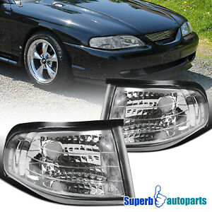 For 1994 1998 Ford 94 98 Mustang Svt Gts Gt Corner Lights Turn Signal Lamps