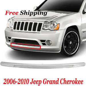 For 2006 2010 Jeep Grand Cherokee Front New Bumper Trim Chrome Ch1044107