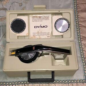 Vintage Dymo Deluxe 1570 Label Maker In Case With Embossing Wheels Case