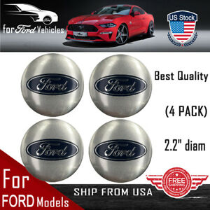 4 Pack For Ford Wheel Center Hub Cap Sticker Decal 2 20 Dome Shape Silver