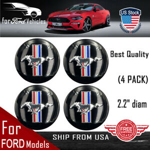 4 Pack For Ford Mustang Wheel Center Hub Cap Sticker Decal 2 20 Dome Shape