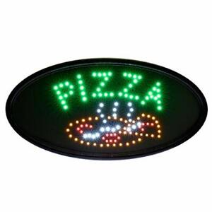 Alpine Industries Led Pizza Sign Oval Commercial Grade Eye Catching Sign
