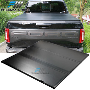 Fits 05 21 Nissan Frontier 5ft Hard Solid 3 Fold Pickup Truck Bed Tonneau Cover