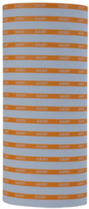 Orange Reverse On White Dairy Labels To Fit Monarch 1110 Pricing Guns 16 Rolls