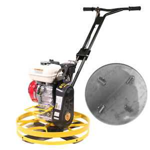 22 Cement Concrete Surface Finisher Power Trowel W 5 5hp Gas Engine Float Pan