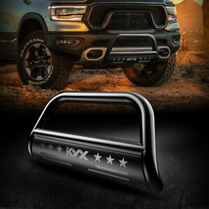 For 2019 2021 Dodge Ram 1500 3 Kyx Bull Bar Grille Guard Front Bumper Black