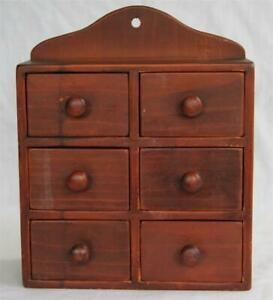 Vintage Primitive Six Drawer Vermont Spice Cabinet Wall Or Table Joslin S Wood
