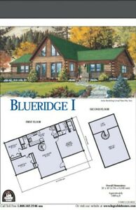 1400 Sq Ft Log Cabin Home Kit Transferrable Contract For Purchase