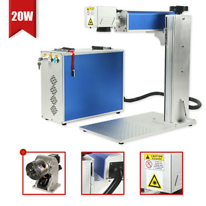Used 20w Engraver Marking Machine Fiber Laser Engraving Machine Rotary Axis