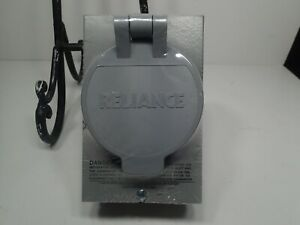 Reliance Controls Pb 30 30a 125 250v 4 circuit Surface Mount Power Inlet Box New