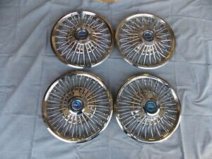 65 66 Nos Ford Mustang 14 Wire Wheel Spinner Hub Caps Gt Convertible Fastback