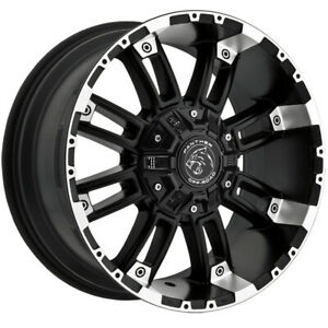 4 Panther Offroad 816 20x9 6x135 6x5 5 0mm Black Machined Wheels Rims 20 Inch