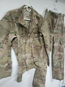 US ARMY ISSUE MULTICAM SET FLAME RESISTANT small regular set pants top $40.00