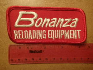 Vintage Embroidered Patch BONANZA RELOADING EQUIPMENT Excellent Condition $6.99