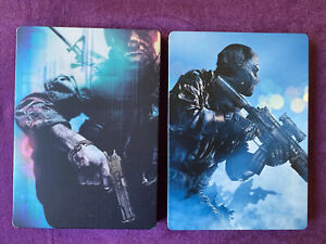 Call of Duty: Black Ops And Ghosts Lot Of 2 Hardened Edition Steelbook $50.00
