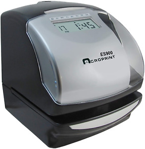 Acroprint Es900 Electronic Payroll Recorder time Stamp numbering Machine