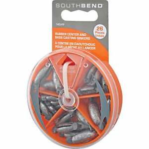 SouthBend 26 Piece Rubber Center Sinker Kit Assortment 140 FP Pack of 12 $57.04