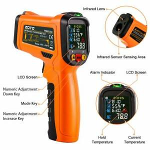 Us Industrial Lcd Infrared Thermometer Non contact Digital Laser Temperature Gun