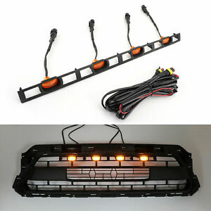 For Tacoma 2012 2015 Front Bumper Hood Grille Led Lights W Wire Harness Amber