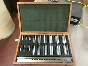 Dumont Minute Man Keyway And Hole Broaches Set In Wooden Case 10 10a