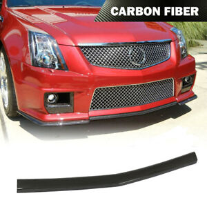 For Cadillac Cts v Coupe 09 15 Front Bumper Lip Center Chin Spoiler Carbon Fiber