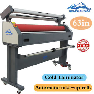 63 Auto grip Roller Wide Format Cold Laminator Mounting Laminating Machines