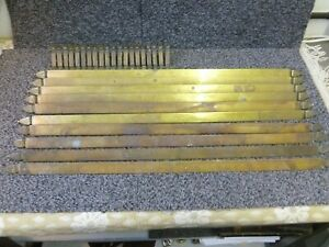 10 Antique Brass Stair Rods With Clips Length 30 25 Inches
