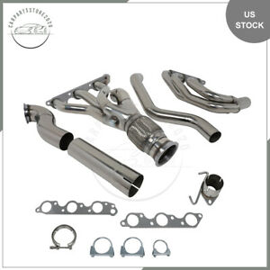 Headers Long Tube For Ford 79 93 Fox Body Ls Conversion Swap 94 04 Mustang