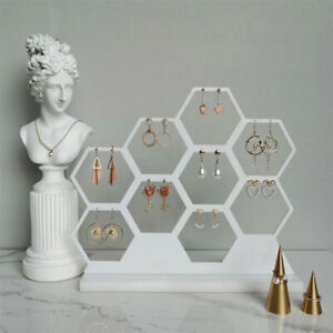 Natural Honeycomb Jewelry Earrings Necklace Storage Rack Holder Jewelry Displng