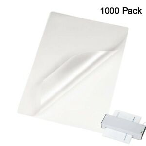 1000 Thermal Laminating Pouches 3 Mil Heat Seal 9 X 11 5 Letter Size Sheet Clear