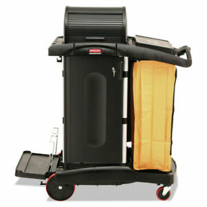 Rubbermaid Janitorial Executive Cleaning Housekeeping Cart Fg9t7500bla New