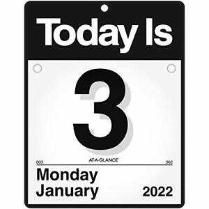 2022 Daily Wall Calendar By At a glance 9 1 2 X 12 Small Today Is Design