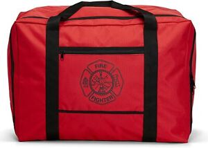 Line2design Firefighter Turnout Gear Bag With Water Resistant Outer Fabric Red
