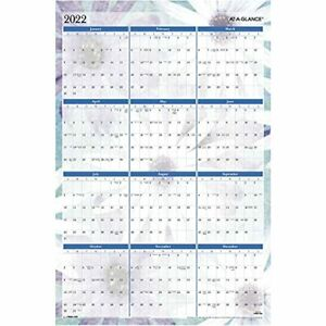 2022 Erasable Wall Calendar By At a glance 24 X 36 Extra Large Monthly Reve