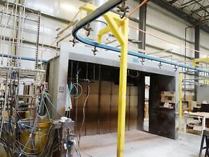 Complete Paint Line For Metal wood Or Plastic Parts 5 Spray Booths