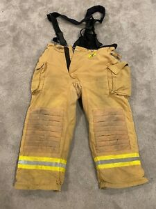 Firefighter Morning Pride Turnout Bunker Pants 46x30 W Suspenders Fast Ship